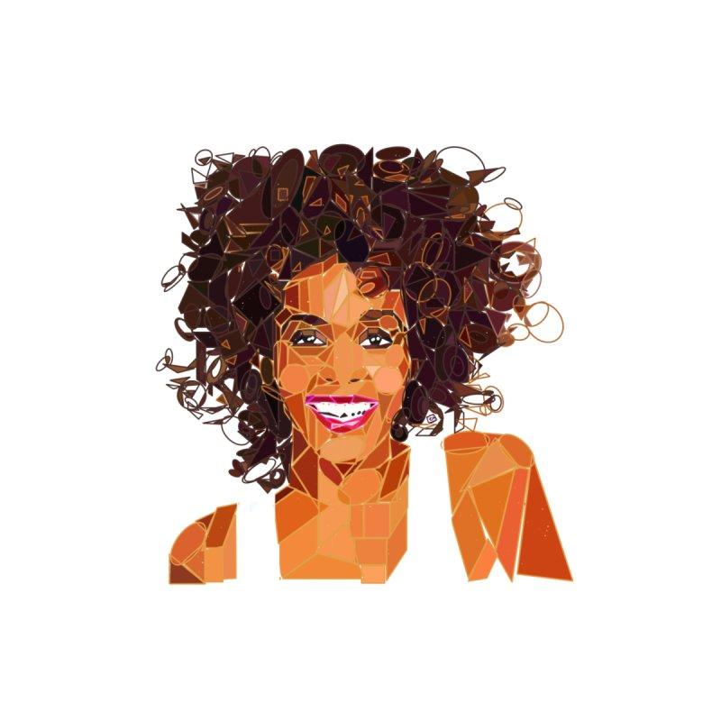 Geometric Whitney Houston by ernio's art Shop ⓔ