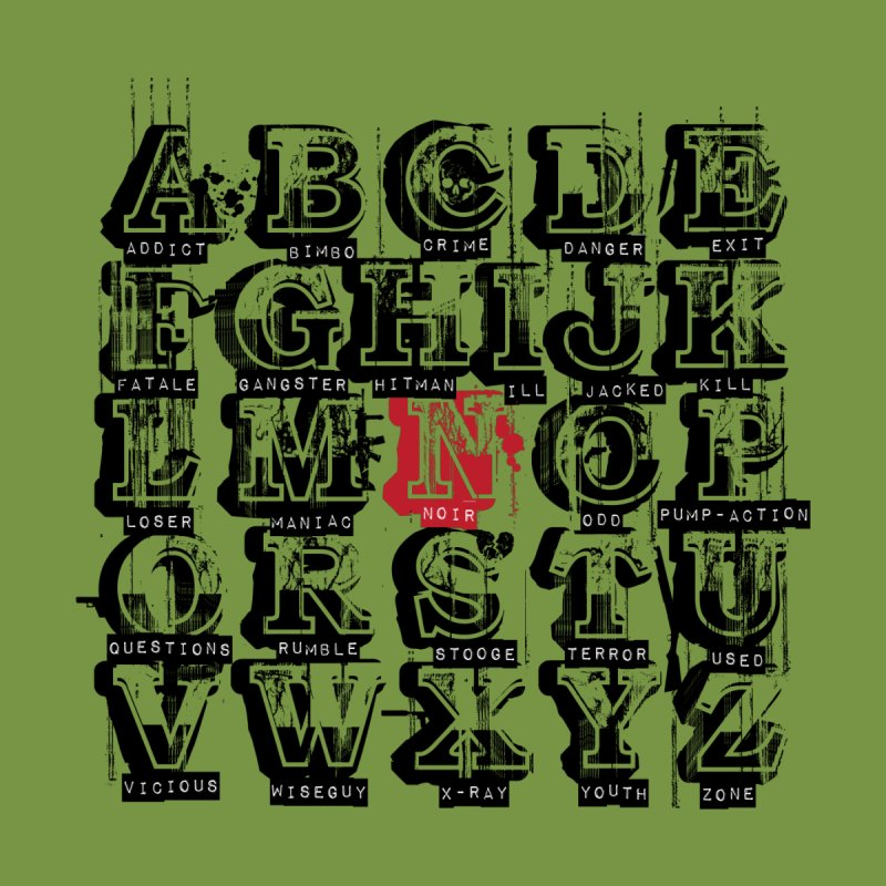 Alphabet Noir (black) by Red Robot
