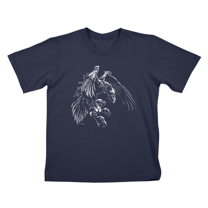 Raven Skin Kids T-Shirt by Red Robot