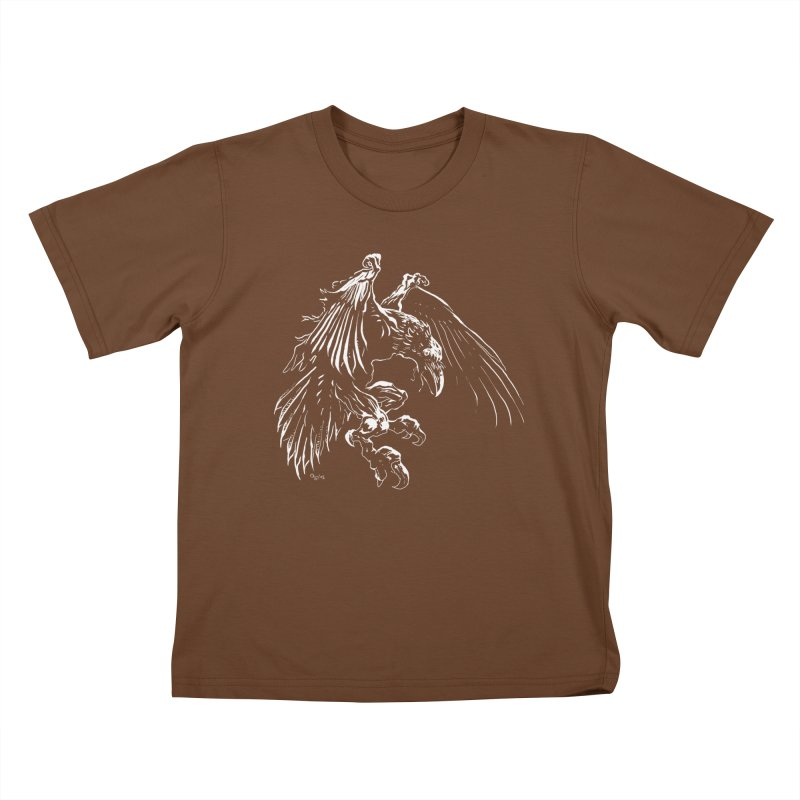 Raven Skin Kids T-shirt by Red Robot