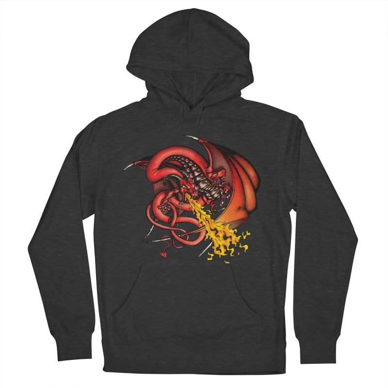 Red Dragon Women's French Terry Pullover Hoody by Red Robot