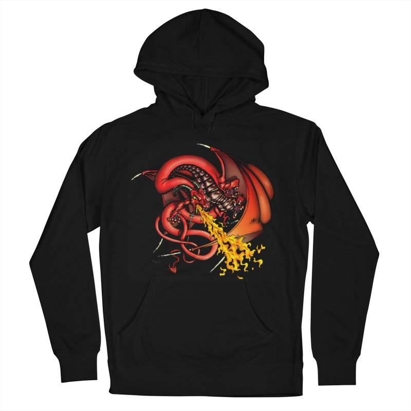 Red Dragon Men's Pullover Hoody by Red Robot