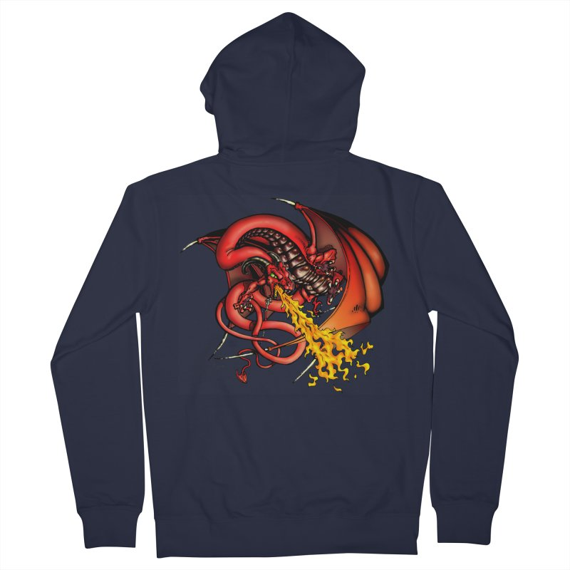 Red Dragon Women's French Terry Zip-Up Hoody by Red Robot