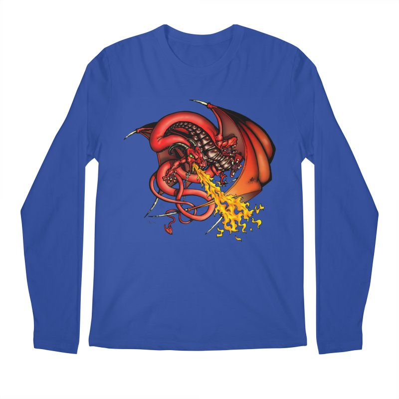 Red Dragon Men's Longsleeve T-Shirt by Red Robot