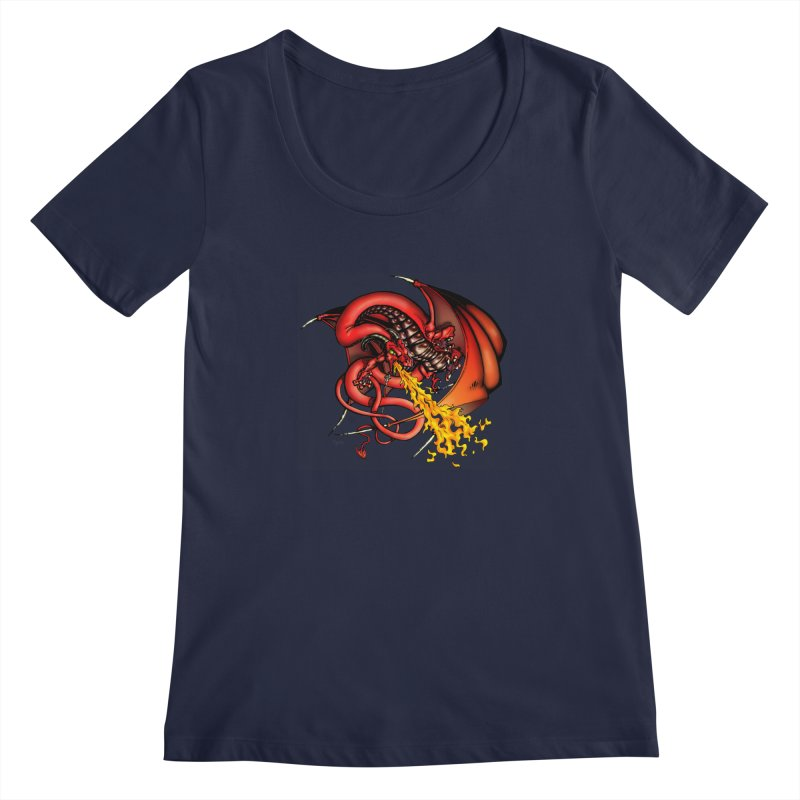 Red Dragon Women's Scoopneck by Red Robot