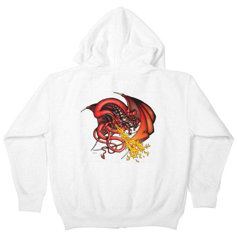 Red Dragon Kids Zip-Up Hoody by Red Robot