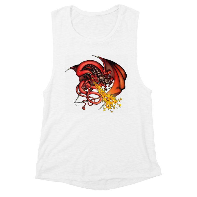 Red Dragon Women's Muscle Tank by Red Robot