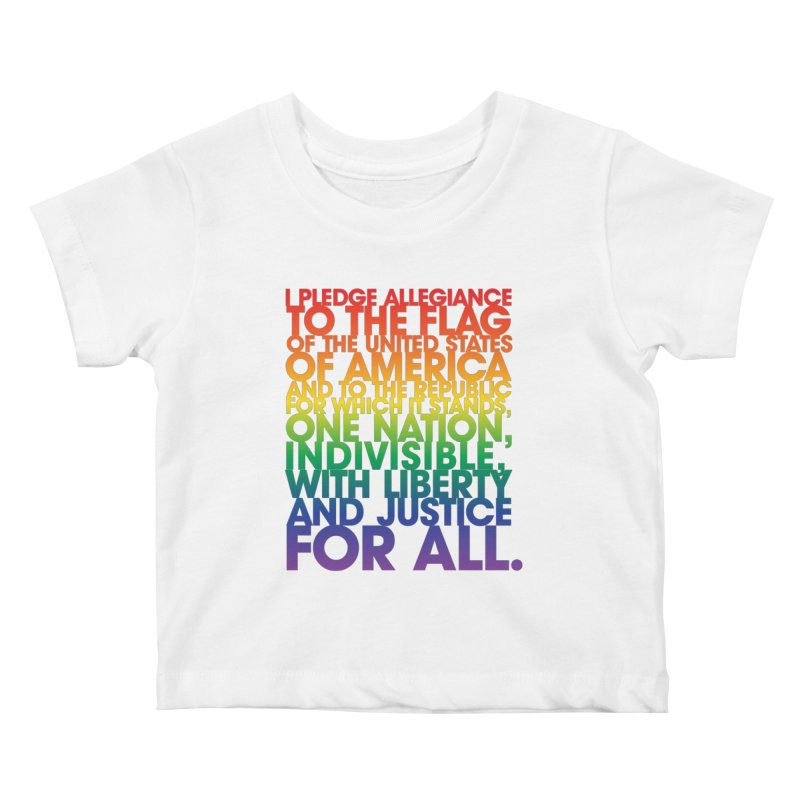Pledge Kids Baby T-Shirt by Red Robot