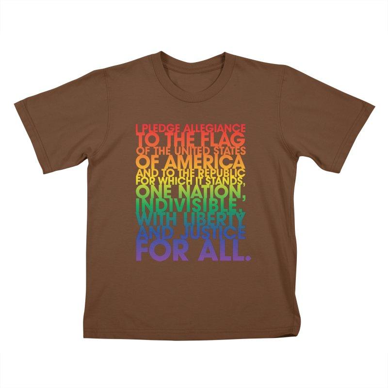 Pledge Kids T-Shirt by Red Robot