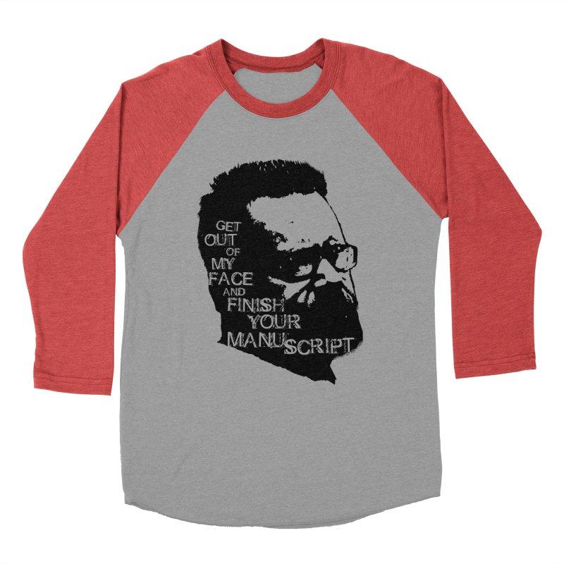 Manuscript (solid) Men's Baseball Triblend Longsleeve T-Shirt by Red Robot