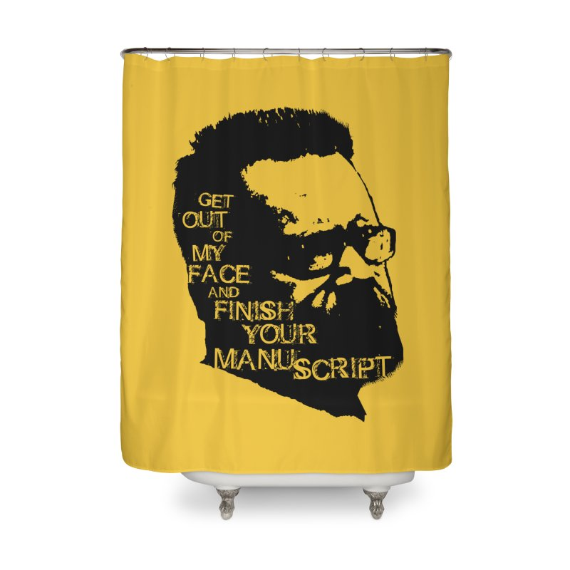 Manuscript (solid) Home Shower Curtain by Red Robot