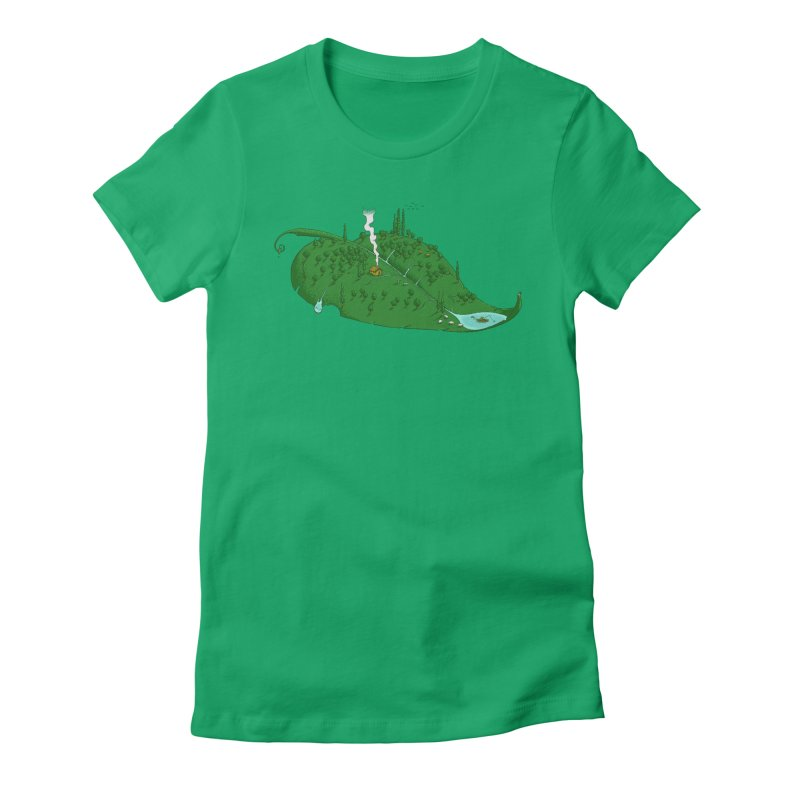 Full of Leaf Women's Fitted T-Shirt by Ersin Erturk
