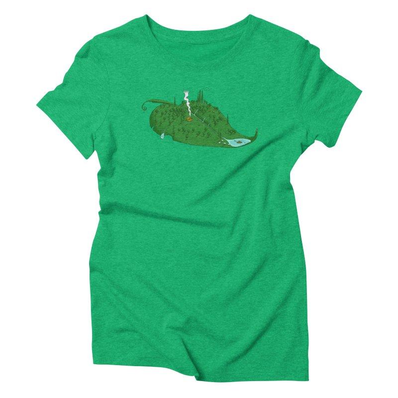 Full of Leaf Women's Triblend T-shirt by Ersin Erturk