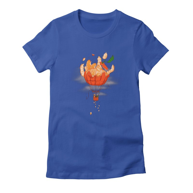 Tangerine Dream Women's Fitted T-Shirt by Ersin Erturk