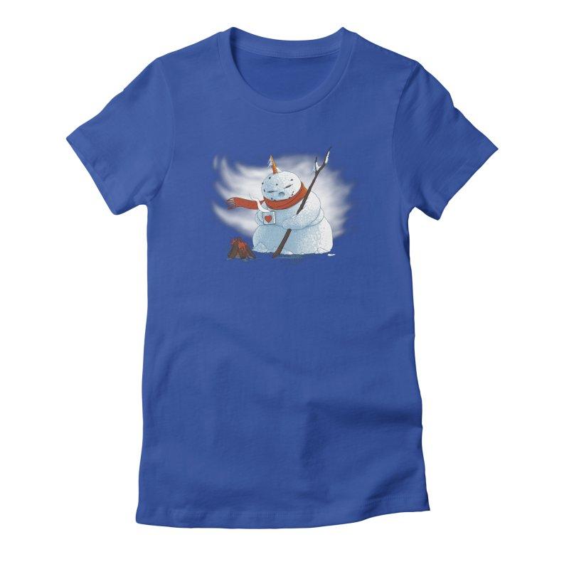 Winter Again Women's Fitted T-Shirt by Ersin Erturk