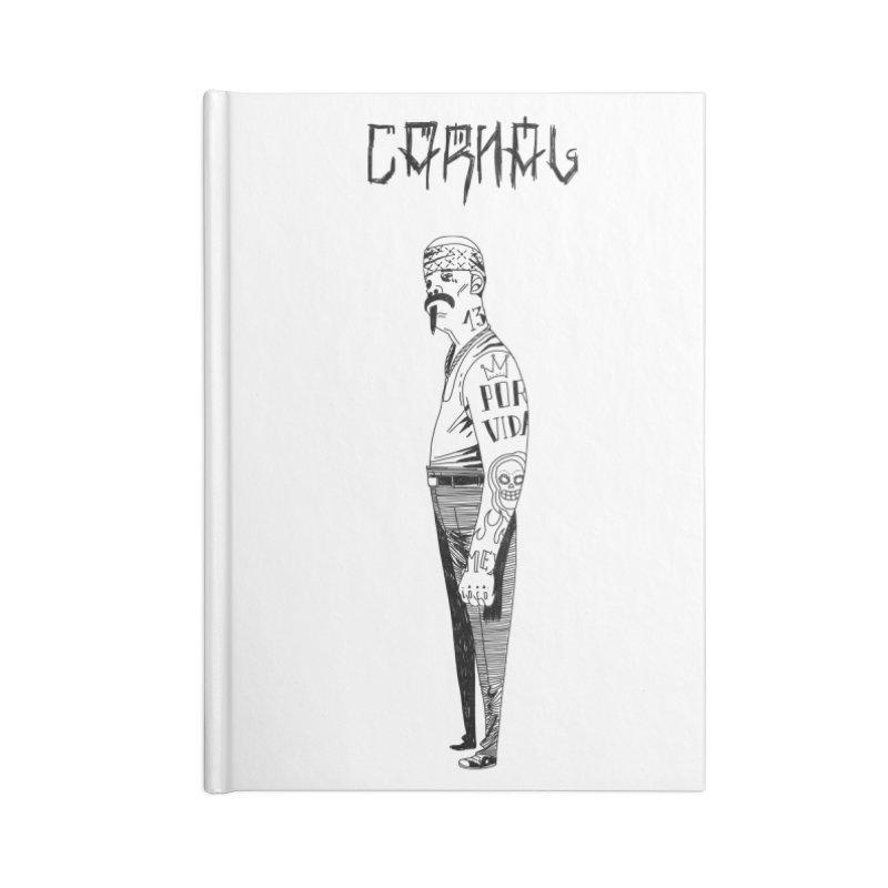 Por Vida Accessories Blank Journal Notebook by Ertito Montana