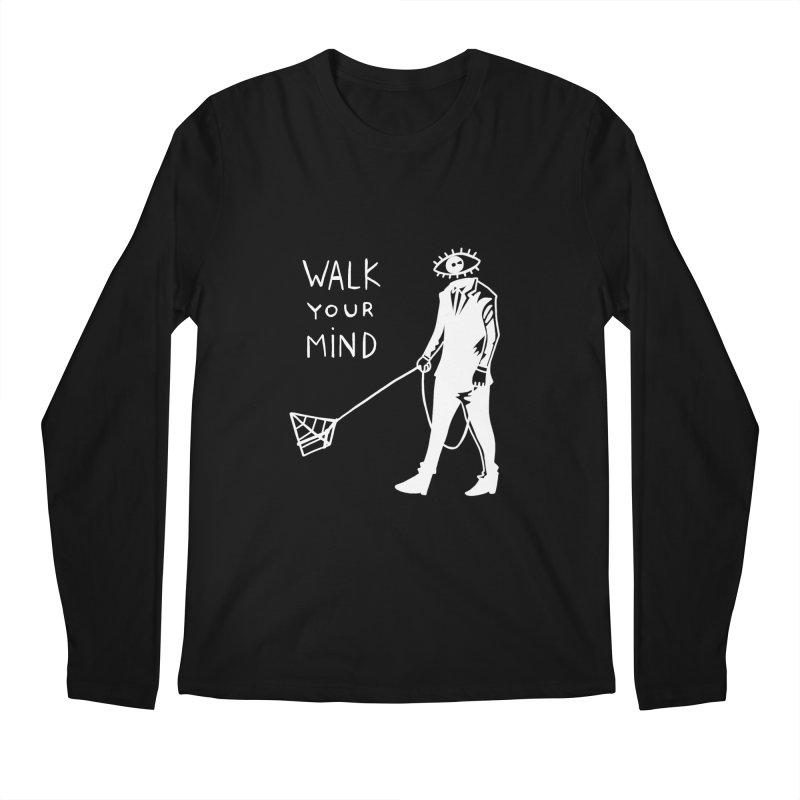 Walk your mind Men's Regular Longsleeve T-Shirt by Ertito Montana