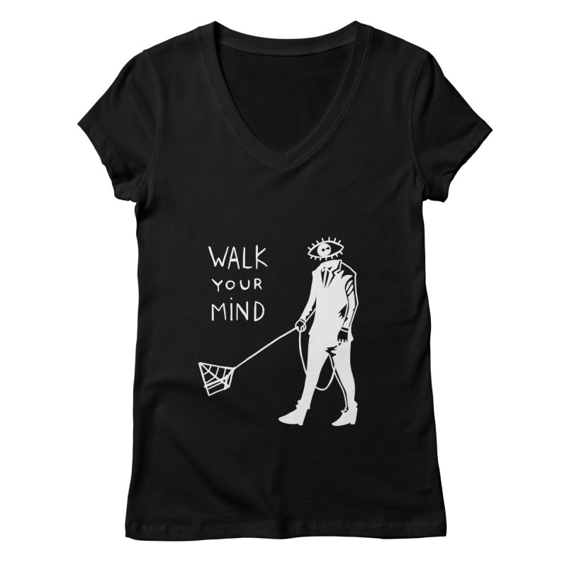 Walk your mind Women's V-Neck by Ertito Montana
