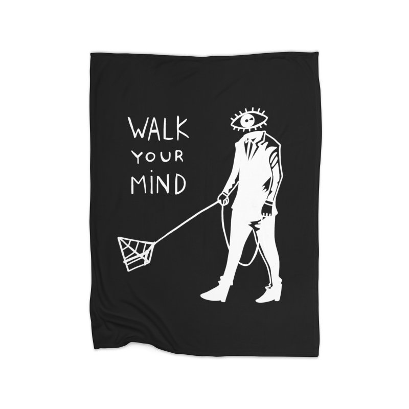 Walk your mind Home Fleece Blanket Blanket by Ertito Montana