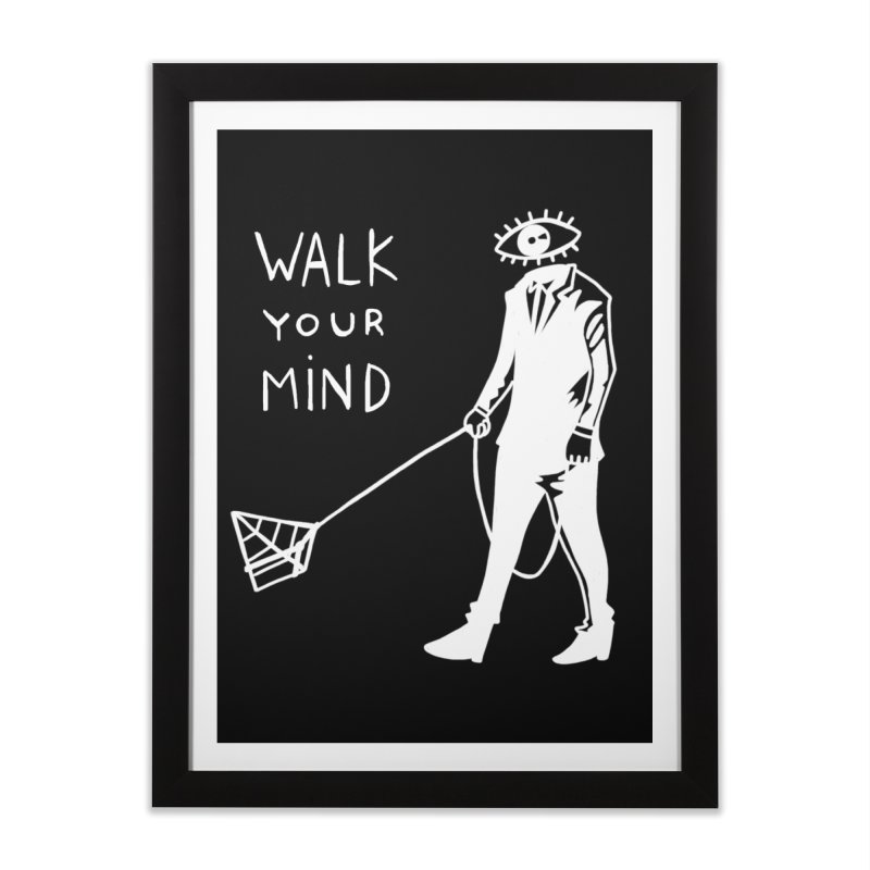 Walk your mind Home Framed Fine Art Print by Ertito Montana