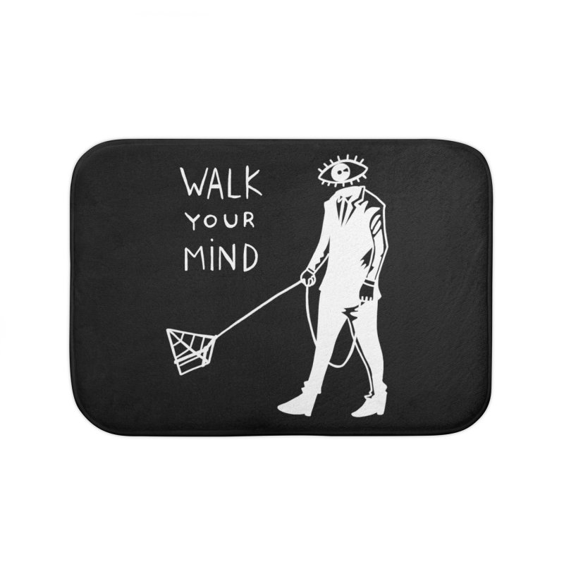 Walk your mind Home Bath Mat by Ertito Montana