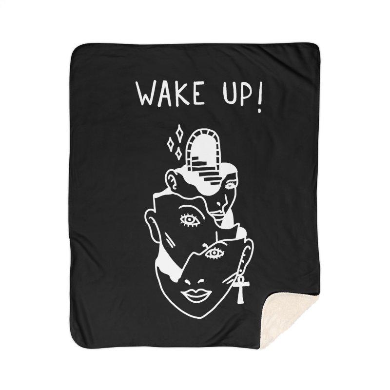 Wake up! Home Sherpa Blanket Blanket by Ertito Montana