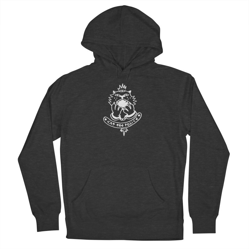 Cat the police Men's French Terry Pullover Hoody by Ertito Montana