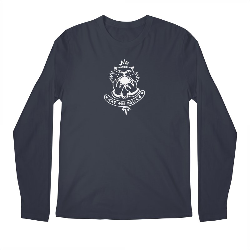 Cat the police Men's Regular Longsleeve T-Shirt by Ertito Montana