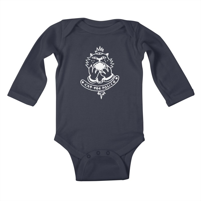 Cat the police Kids Baby Longsleeve Bodysuit by Ertito Montana