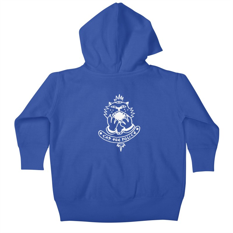 Cat the police Kids Baby Zip-Up Hoody by Ertito Montana