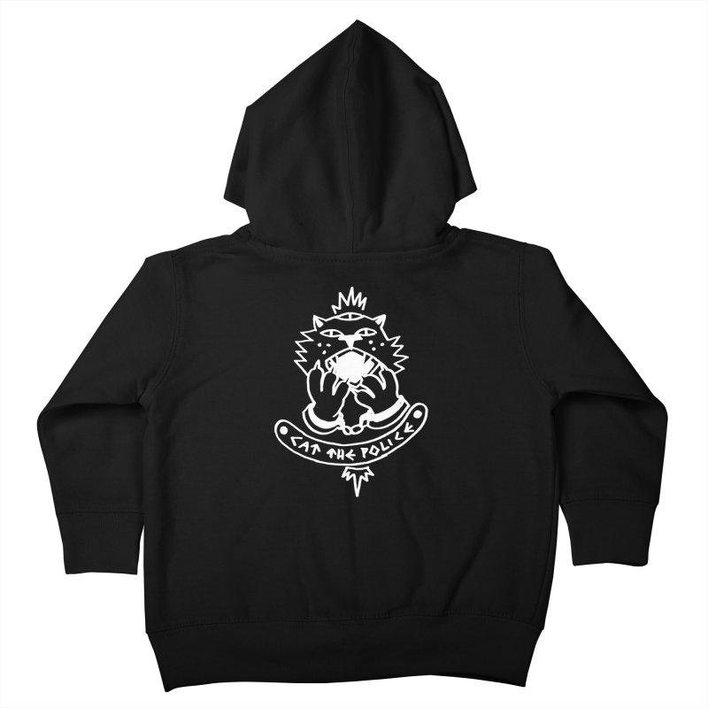 Cat the police Kids Toddler Zip-Up Hoody by Ertito Montana
