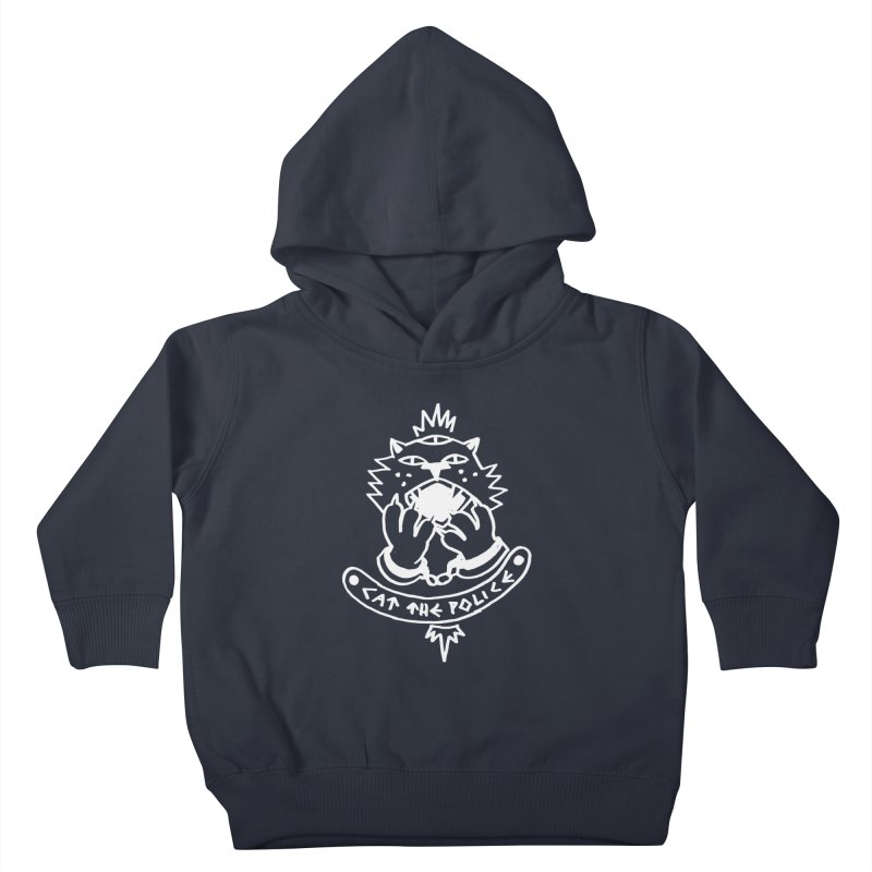 Cat the police Kids Toddler Pullover Hoody by Ertito Montana
