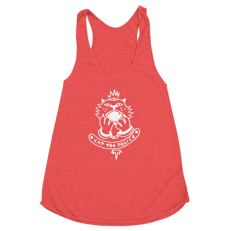 Cat the police Women's Racerback Triblend Tank by Ertito Montana
