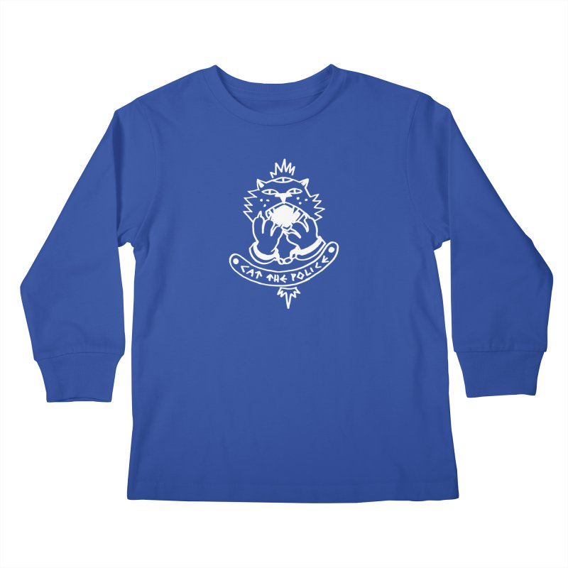 Cat the police Kids Longsleeve T-Shirt by Ertito Montana