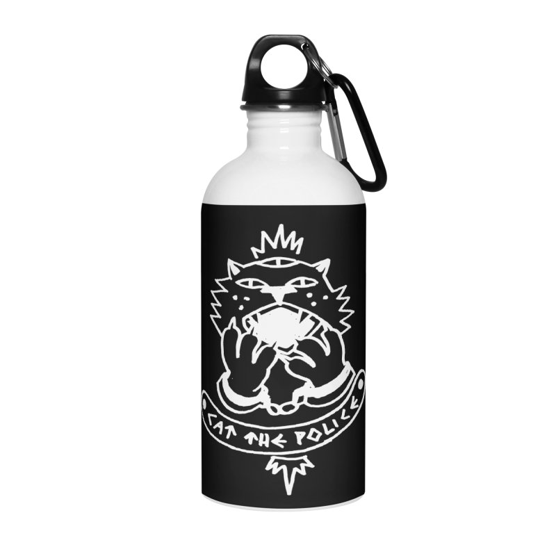 Cat the police Accessories Water Bottle by Ertito Montana