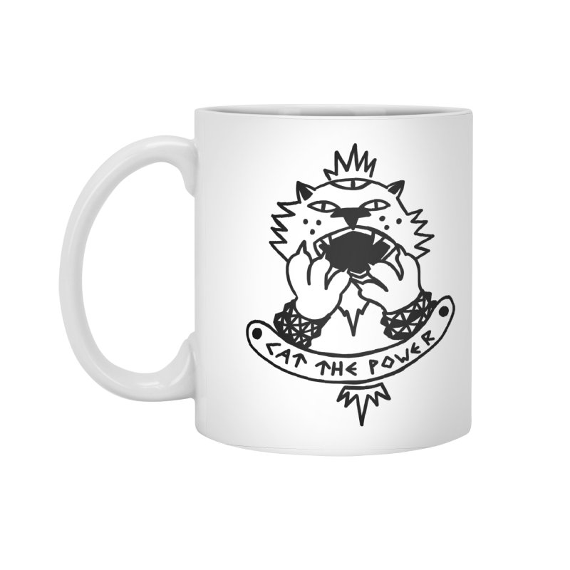Cat the power (black line) Accessories Standard Mug by Ertito Montana