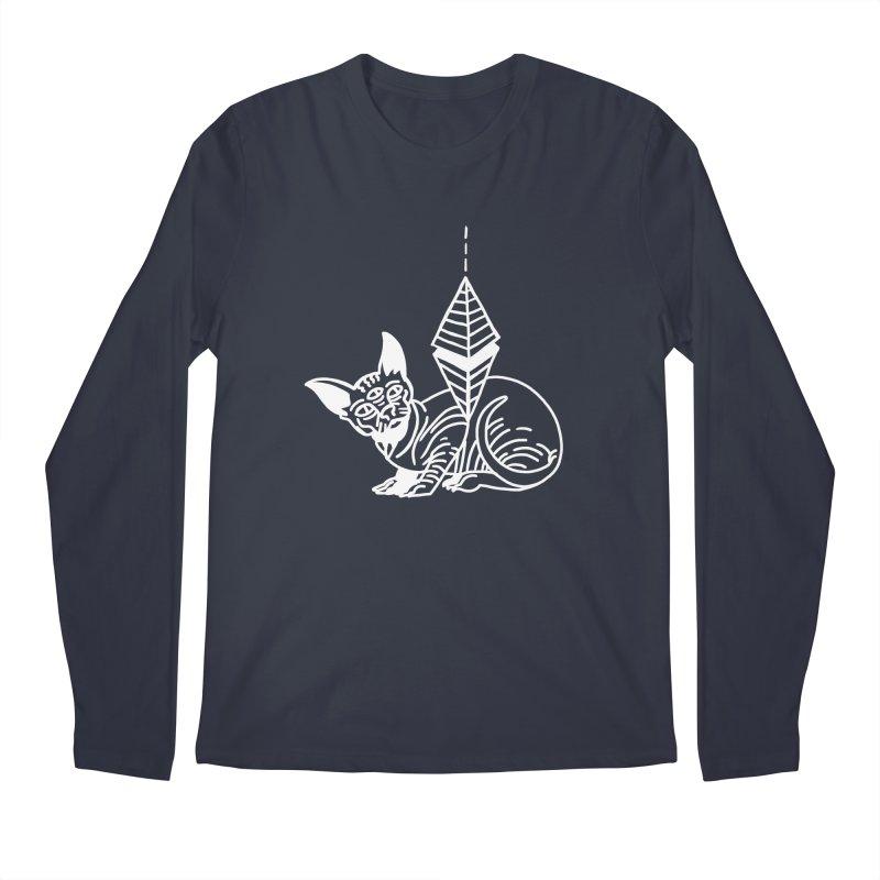 Gato Esfinge (white line) Men's Regular Longsleeve T-Shirt by Ertito Montana