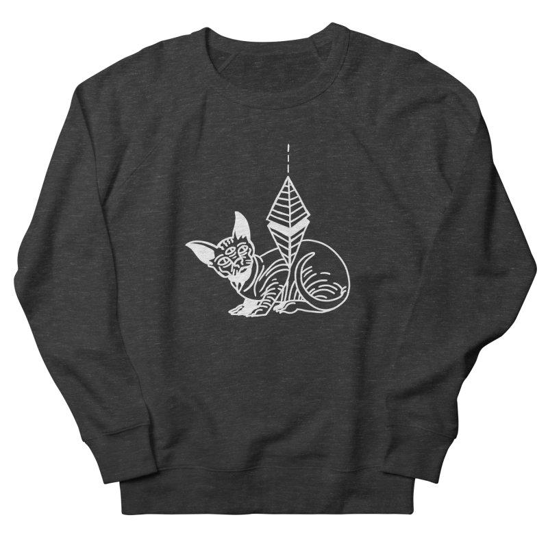 Gato Esfinge (white line) Women's French Terry Sweatshirt by Ertito Montana