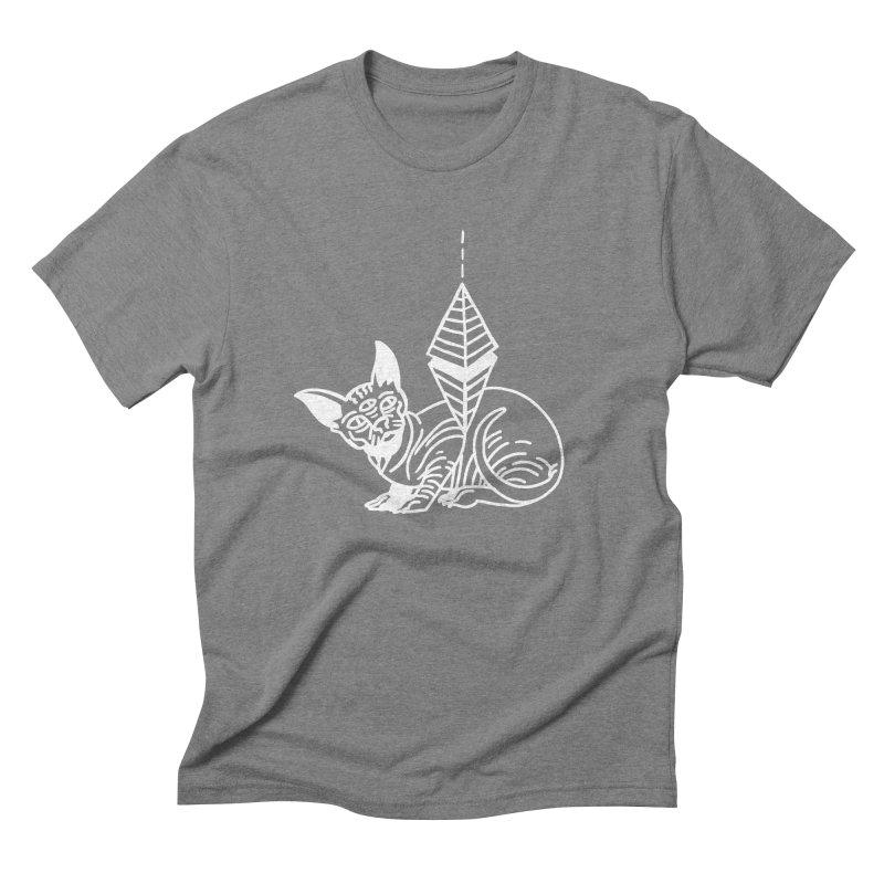 Gato Esfinge (white line) Men's Triblend T-Shirt by Ertito Montana