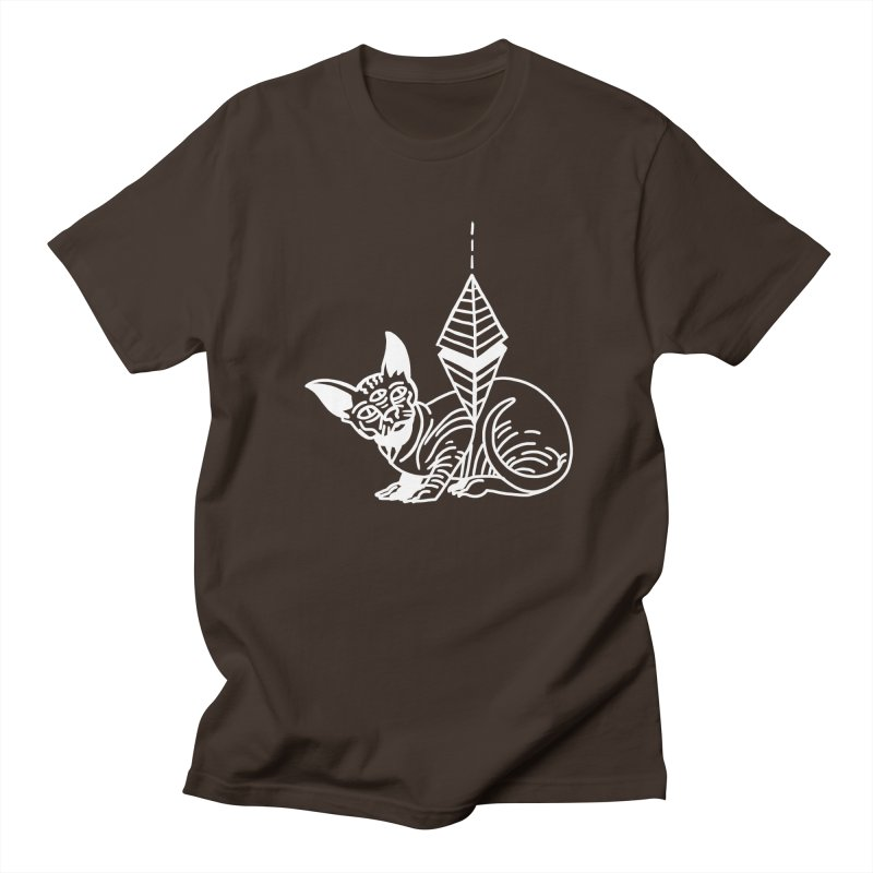 Gato Esfinge (white line) Men's Regular T-Shirt by Ertito Montana