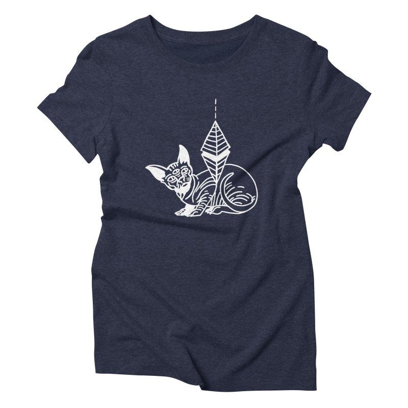 Gato Esfinge (white line) Women's T-Shirt by Ertito Montana