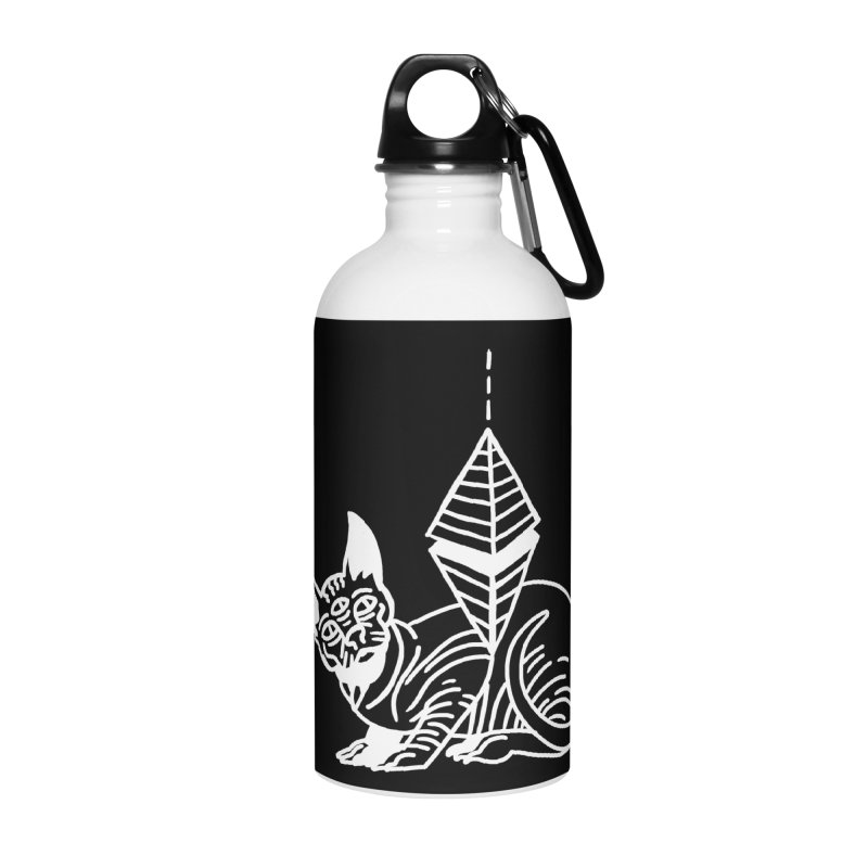 Gato Esfinge (white line) Accessories Water Bottle by Ertito Montana