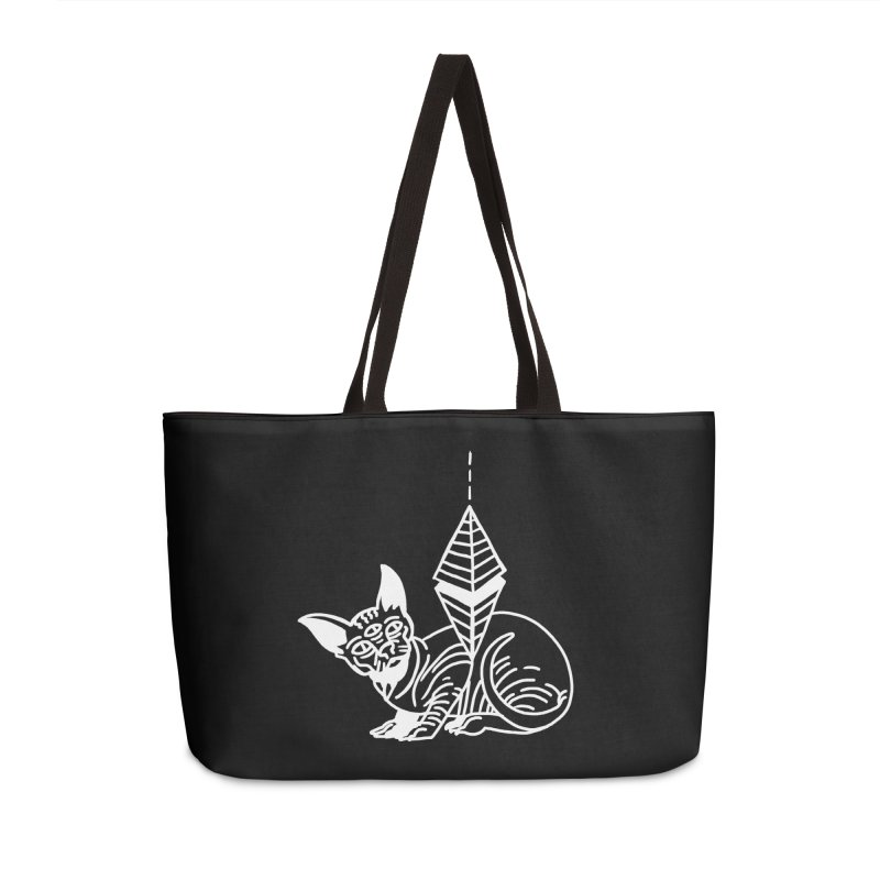 Gato Esfinge (white line) Accessories Weekender Bag Bag by Ertito Montana