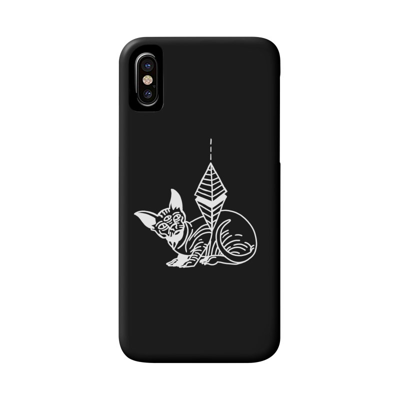 Gato Esfinge (white line) Accessories Phone Case by Ertito Montana