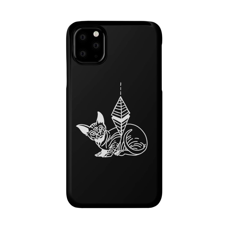 Gato Esfinge (white line) Accessories Phone Case by Ertito Montana