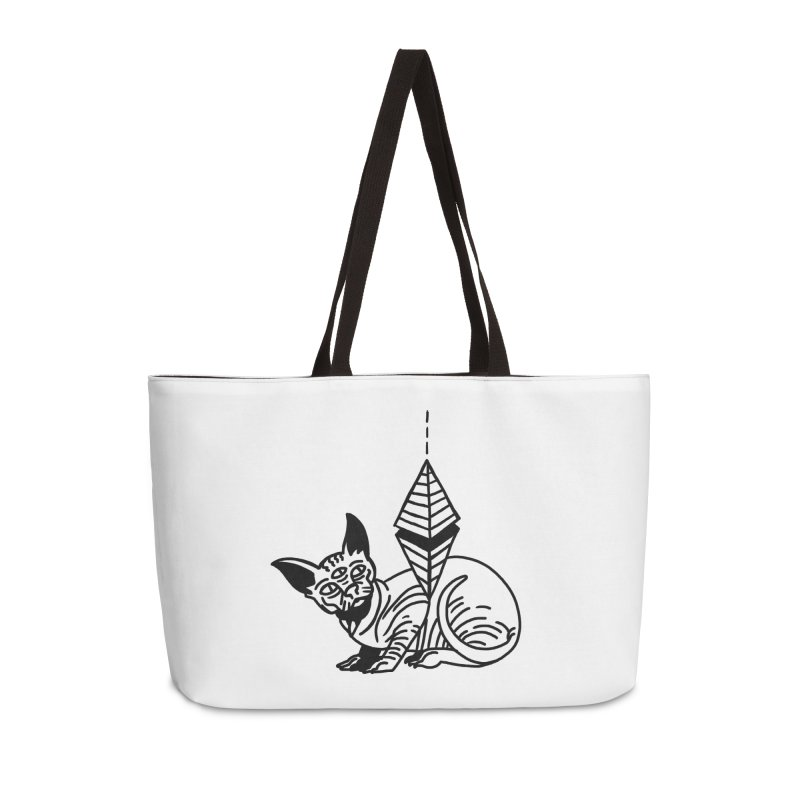 Gato esfinge (black line) Accessories Weekender Bag Bag by Ertito Montana