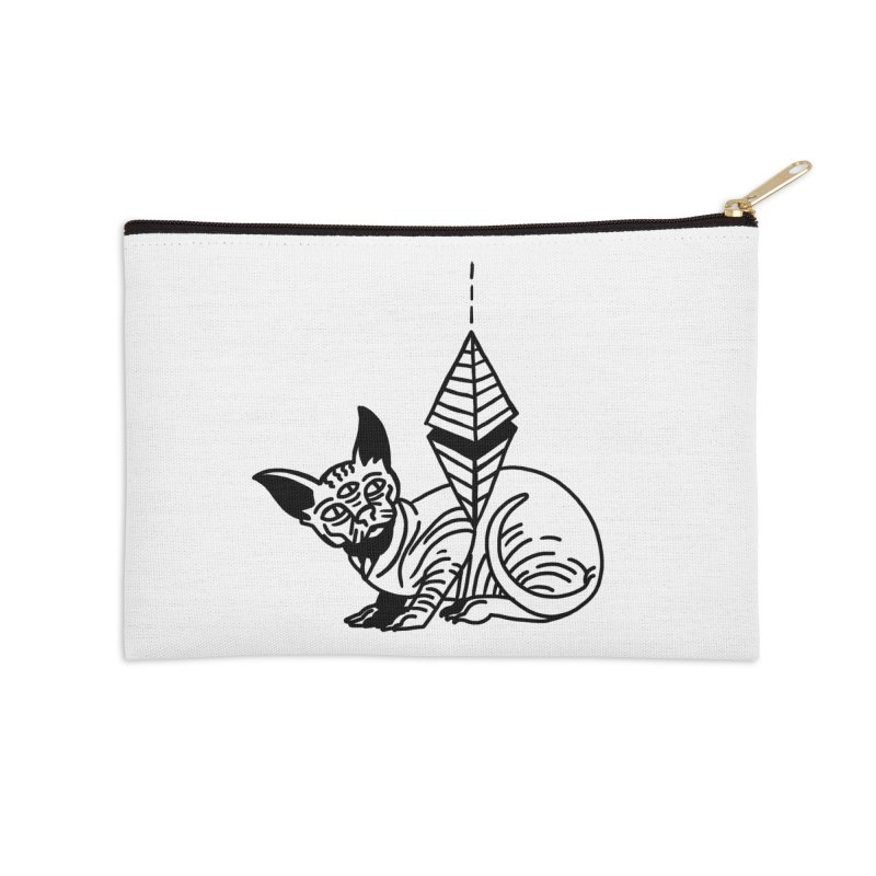 Gato esfinge (black line) Accessories Zip Pouch by Ertito Montana
