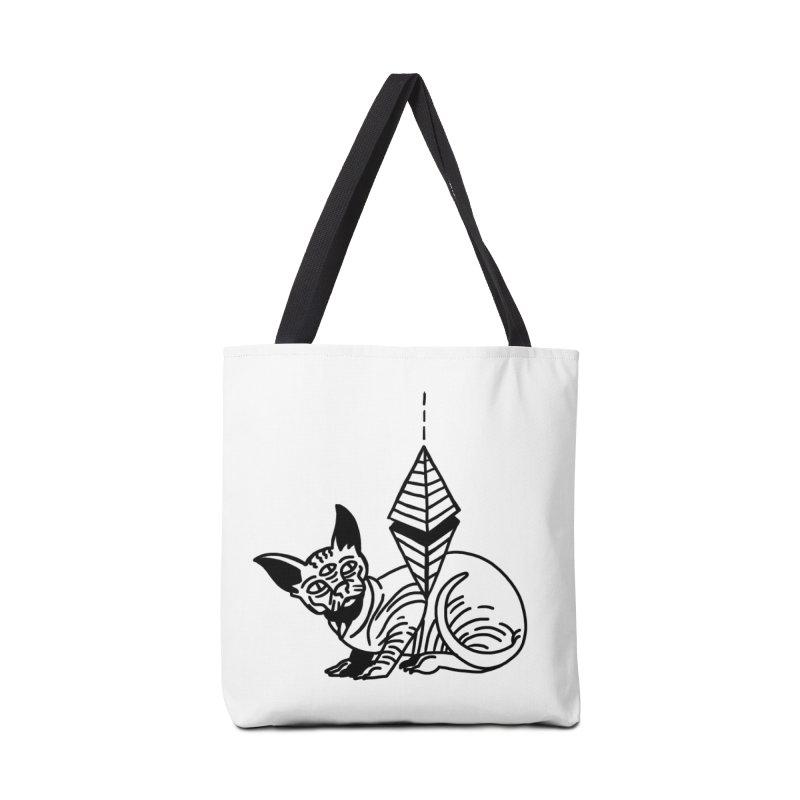 Gato esfinge (black line) Accessories Bag by Ertito Montana
