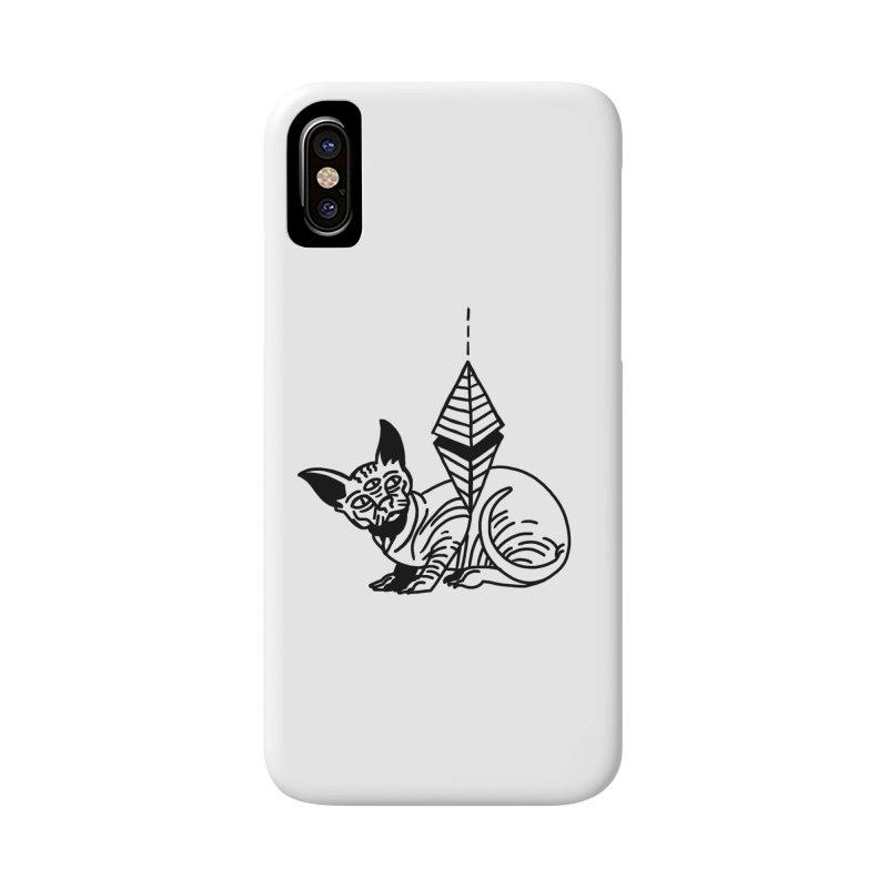Gato esfinge (black line) Accessories Phone Case by Ertito Montana