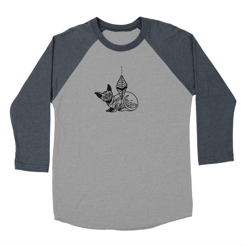 Gato esfinge (black line) Men's Baseball Triblend Longsleeve T-Shirt by Ertito Montana